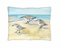 """18"""" Square Sandpiper Beach Trio Pillow"""