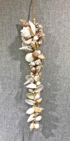"32"" Assorted Large White Shells on Abaca Rope Strand"