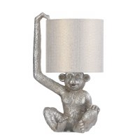 """18"""" Silver Monkey Molded Table Lamp"""