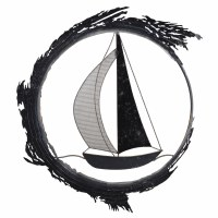 """24"""" Silver and Navy Laser Cut Sailboat Metal Wall Plaque"""