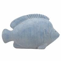 "12"" Light Blue Polyresin Fish Decor"