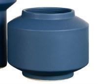 "6"" Dark Blue Ceramic Cobalt Modern Pot"