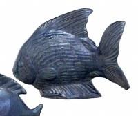 """10"""" Dark Blue Ceramic Fish"""