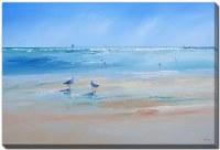 "38"" x 60"" Late Gulls Canvas Wall Art"
