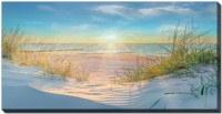 "30"" x 60"" Sunset Beach Waiting For Me Canvas Wall Art"