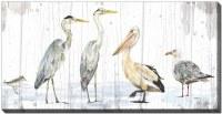 "30"" x 60"" Birds of the Coast Canvas Wall Art"