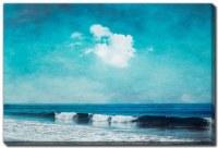 "38"" x 60"" Sea Blues Canvas Wall Art"