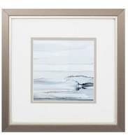 """11"""" Square Right Cresting Wave in Silver Frame"""