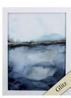 """27"""" x 21"""" Gel Coated Light Blue Coastal Horizon With Frame"""
