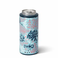 12 oz Swig Coral Me Crazy Insulated Skinny Can Cooler