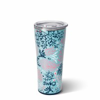 22 oz Swig Coral Me Crazy Insulated Tumbler