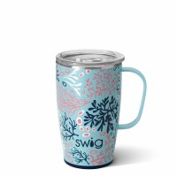 18 oz Swig Coral Me Crazy Insulated Travel Mug