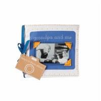 "6"" Square Grandpa & Me Fabric Photo Album Book by Mud Pie"