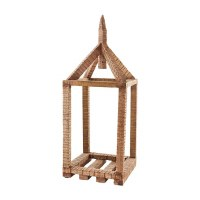 "21"" Wood Open Air House Lantern"