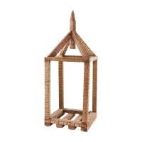 "21"" Wood Open Air House Lantern by Mud Pie"