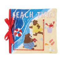 "6"" Square Cloth Beach Time Photo Album Book by Mud Pie"