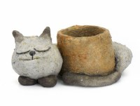 "3"" Baby Sleeping Kitty Planter"