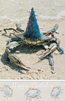 "8"" x 5"" Party Crab Happy Birthday Card"