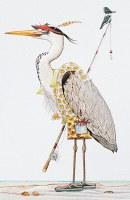"8"" x 5"" Fishing Heron Birthday Card"