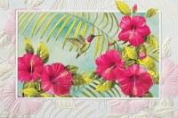 "5"" x 8"" Hibiscus and Hummingbird Get Well Soon Card"