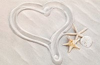 "5"" x 8"" Heart Of Sand Wedding Day Card"