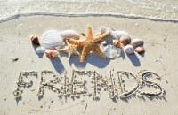 """5"""" x 8"""" Friends Beach Message Card"""