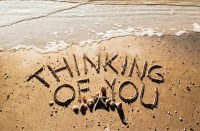 """5"""" x 8"""" Thinking Of You Beach Message Card"""