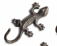 "7"" Bronze Metal Gecko Wall Hook"