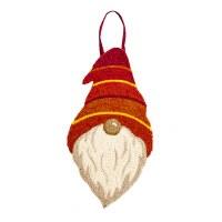 "24"" Orange, Red and Yellow Gnome Door Hanger"