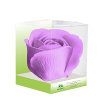 "3"" Purple Rose Decorative Bath Soap"