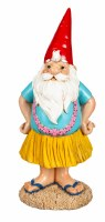 "12"" Red Hat Gnome With Lei on Vacation"