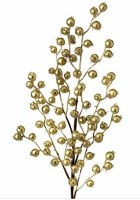"""26"""" Faux Gold Metallic Berry With Tinsel Spray"""