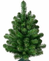 "24"" Faux Oregon Fir Christmas Tree With Stand"