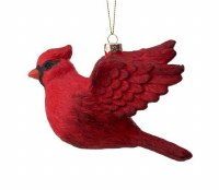 """6"""" Red Flying Cardinal Ornament"""