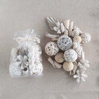 """8"""" Bag of Whitewashed and Cream Dried Natural Organic Orbs Mix"""