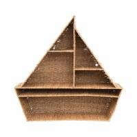 """30"""" Natural Woven Bankuan Sailboat Wall Shelf"""