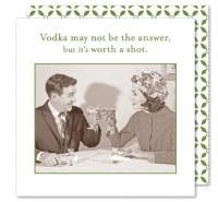 """5"""" Square Vodka Worth a Shot Beverage Napkin"""