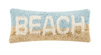 """5"""" x 12"""" Multicolor Beach Hooked Pillow"""