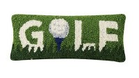 """5"""" x 12"""" Golf With Ball and Tee Hooked Pillow"""