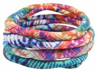 Set of 4 Spin Art Hair Ties