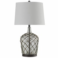 """30"""" Clear Glass With Net Table Lamp"""