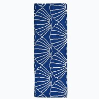 """21"""" x 54"""" Navy and White Shell Repeat Runner"""