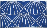 """21"""" x 33"""" Navy and White Shell Repeat Rug"""