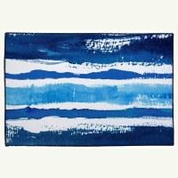 "20"" x 30"" Blue and White Sapphire Stripe Rug"