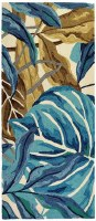 """26"""" x 60"""" Blue and Brown Jungle Runner"""