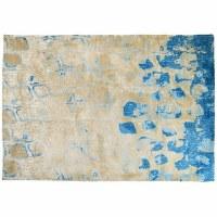 5' x 7' Blue and Tan Meditation Rug