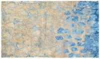 3' x 5' Blue and Tan Meditation Rug
