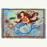 "20"" x 30"" Mermaid Under the Sea Rug"