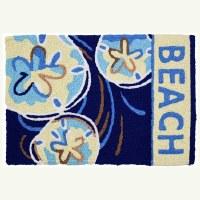 """20"""" x 30"""" Blue Beach Sand Dollars Rug"""