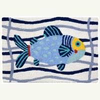 "20"" x 30"" Blue Fish Ropes Rug"